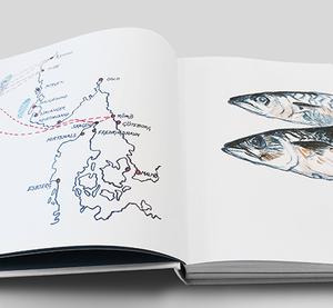 Glittrande fisk möter konstnärens blick